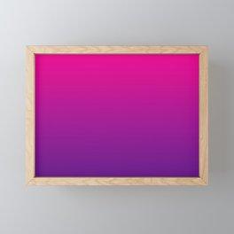 Neon Pink Purple Ultra Violet Pattern Framed Mini Art Print