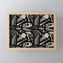Dino Bones Black Framed Mini Art Print
