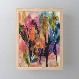 evening garden Framed Mini Art Print