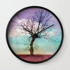 ATMOSPHERIC TREE | Early Morning Wall Clock