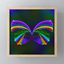 Rainbow Butterfly Framed Mini Art Print