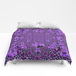 Encrusted Amethyst Purple Gems February Birthstones art Comforters
