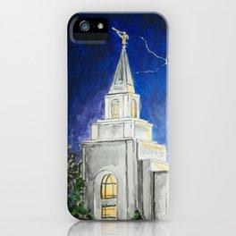 Kansas City Missouri LDS Temple iPhone Case