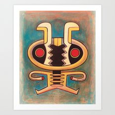 Google bot bee Art Print