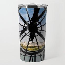 Clock at the Musee d'Orsay Travel Mug