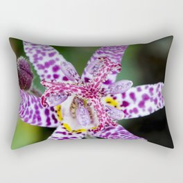 Toad Lily Center Perspective Rectangular Pillow