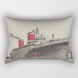 Steam Ship, New York Harbor Rectangular Pillow