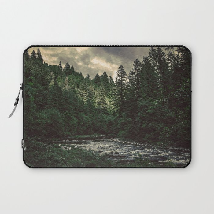 Pacific Northwest River - Nature Photography Laptop Sleeve