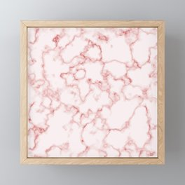 Marble Texture Pattern Red 042 Framed Mini Art Print