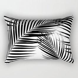 Palm Leaves - Black & White Cali Vibes #1 #tropical #decor #art #society6 Rectangular Pillow