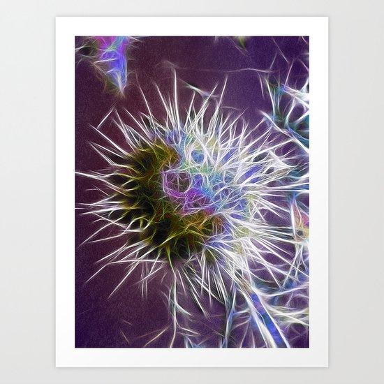 Cactus with Colour Art Print