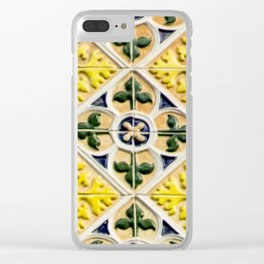 Portuguese azulejos Clear iPhone Case