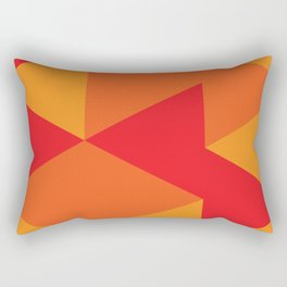Red Triangle Pattern Rectangular Pillow