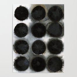 WATERCOLOUR DISCS: Black Spinel Poster