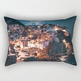 manarola at night Rectangular Pillow