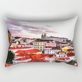 "Sunrise in Lisbon, ""Portas do Sol"" (Sun doors) Rectangular Pillow"