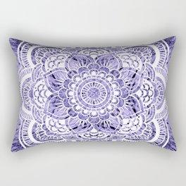 Mandala Lavender Colorburst Rectangular Pillow