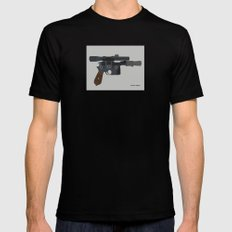 Shoot First. Mens Fitted Tee Black X-LARGE