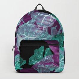 Big Leaves Violet abstract Design #leaves #artwork Backpack
