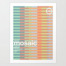 mosaic single hop Art Print