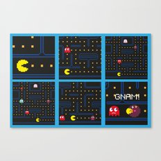 Pac Man vs Monster Mec Canvas Print
