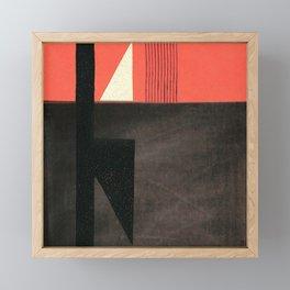 Solitaire du Figaro (red) Framed Mini Art Print