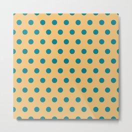 Polka / Dots - Plain Color Textile Art Metal Print