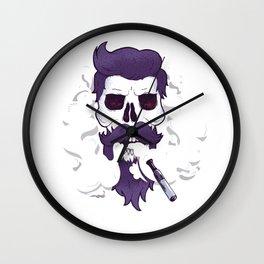 Vape Skull Design Wall Clock