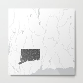 Connecticut Metal Print