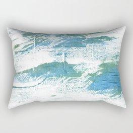 Mint cream watercolor Rectangular Pillow