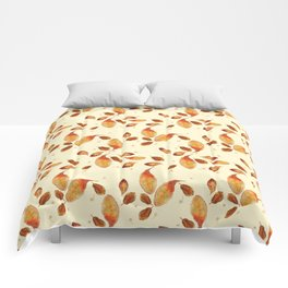 Scattered Autumn Leaves Comforters