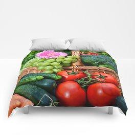 Vegetable composition in the summer garden Comforters