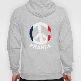 France Peace Sign T Shirt Hoody