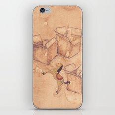 Tres cajas de cartón y un caballo de madera iPhone & iPod Skin