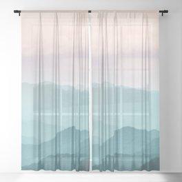 Smoky Mountain National Park Sunset Layers II - Nature Photography Sheer Curtain