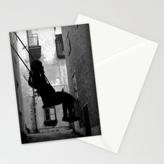 The swing (thinking) Stationery Cards