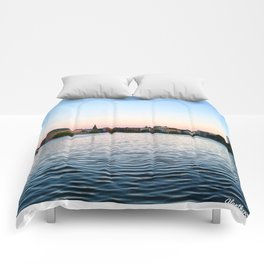 Clear & Blurry Lake Comforters