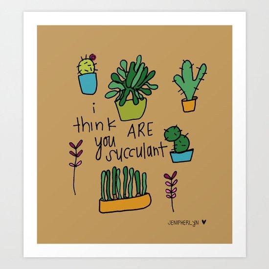 Plant Love. Art Print