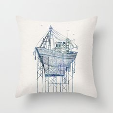 Dry Dock I Throw Pillow