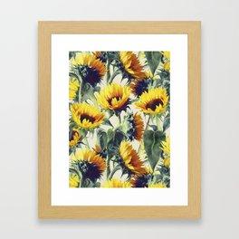 Sunflowers Forever Framed Art Print