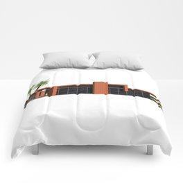 Original Mid Century Modern House, Orange  Comforters