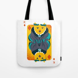 Cat the King of Diamonds Tote Bag