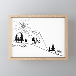 cycling mountain bike mountainbike cyclist bicycle MTB gift Framed Mini Art Print