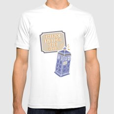 think inside the box Mens Fitted Tee White MEDIUM