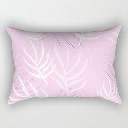 Pink palm leaves Rectangular Pillow