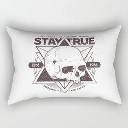 Stay True Skull #2 Rectangular Pillow
