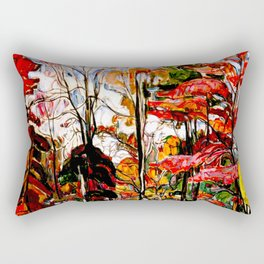 Autumn, Crotona Park, Bronx by Abraham A. Manievich - Vintage Painting Rectangular Pillow