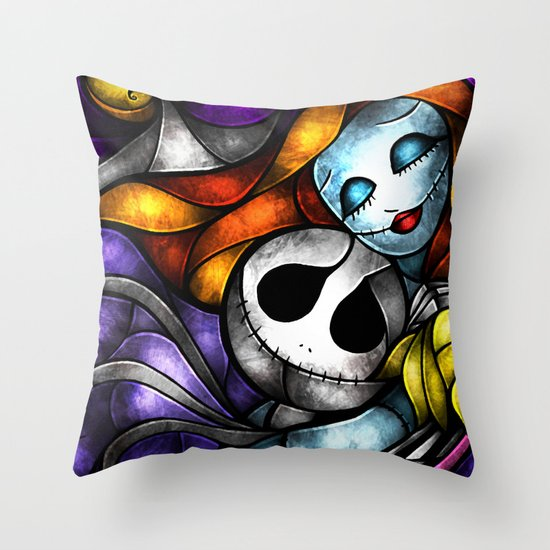 Love at its darkest Throw Pillow
