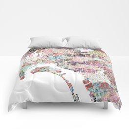 San Diego map flowers Comforters