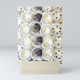 Colorful cake pops Mini Art Print